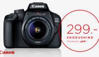 See ei ole võimalik? Canoni peegelkaamera koos objektiiviga kõigest 299€