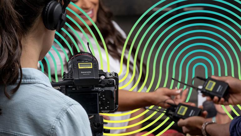Juhtmevabad raadiomikrofonid Saramonic'ult: peegel- hübriid- ja videokaamera või nutitelefoni jaoks