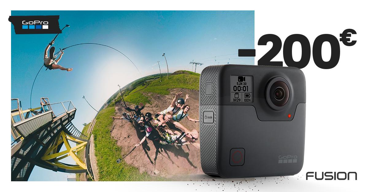 Jäädvusta kõik enda ümber – GoPro Fusion 360° kaamera -200€