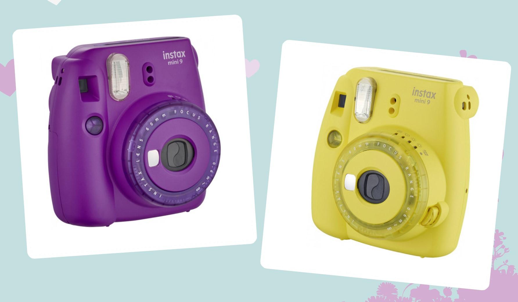 Nüüd saadaval: Fujifilm Instax Mini 9 kiirpildikaamerad lillas ja kollases korpuses