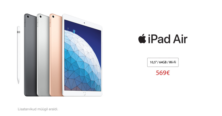 Koolilõpu kingiidee: iPad Air. Võim ei kuulu ainult suurtele