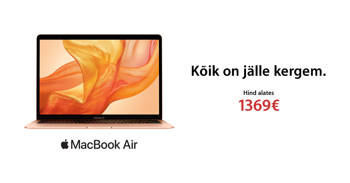 "Uus Apple MacBook Air 13"" on ideaalne koolilõpukingitus"