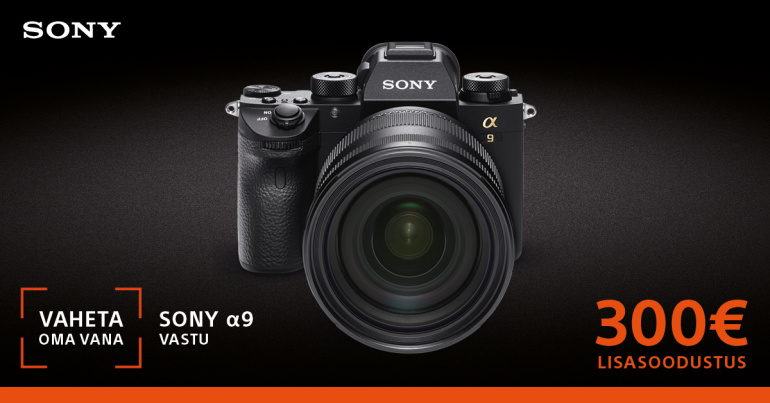 Too oma vana digikaamera meile ja Sony a9 on Sulle veel 300€ soodsam