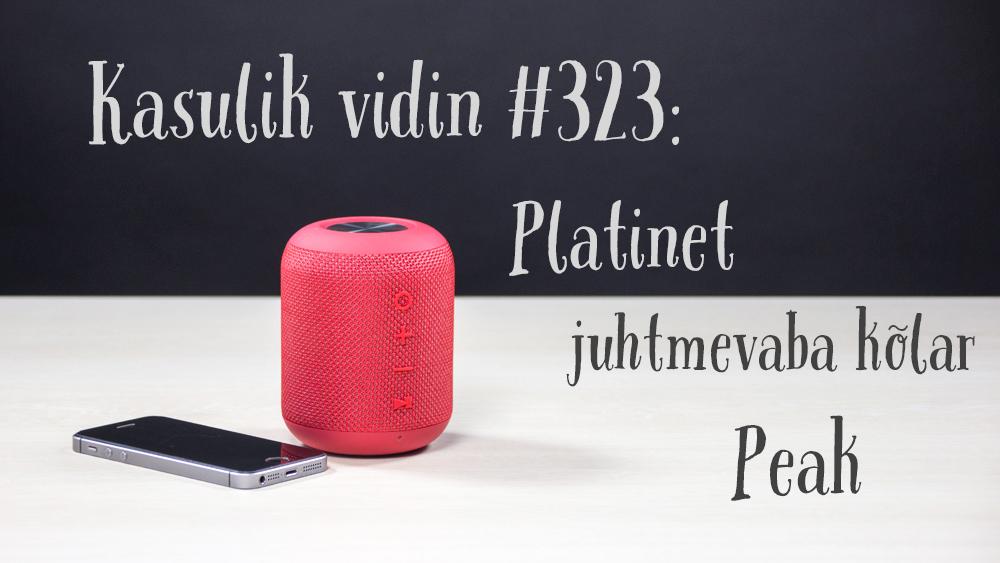 Kasulik vidin #323: Platinet juhtmevaba kõlar Peak PMG13 BT