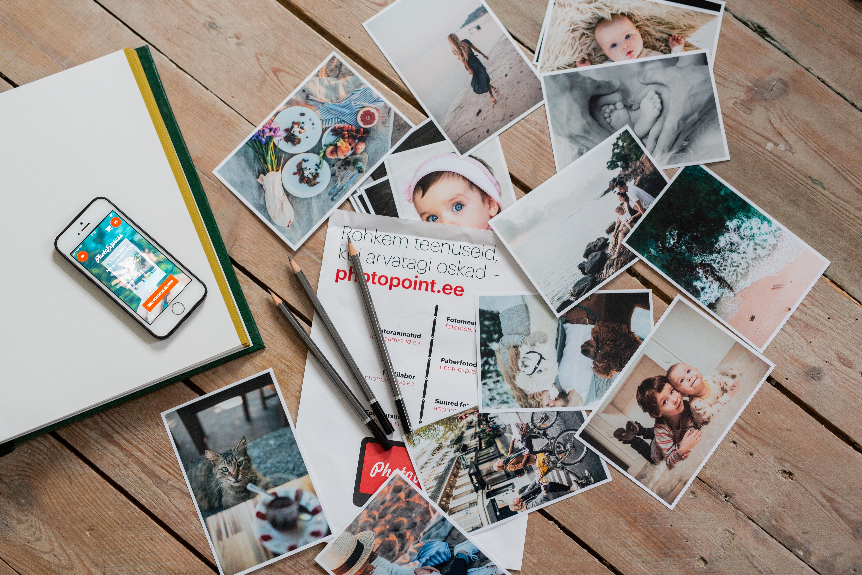 Raami oma paberfotod valge äärega