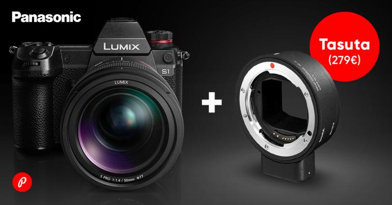 Uue Panasonic Lumix S1 või Lumix S1R ostul kingitus, mis laiendab objektiivide valikut