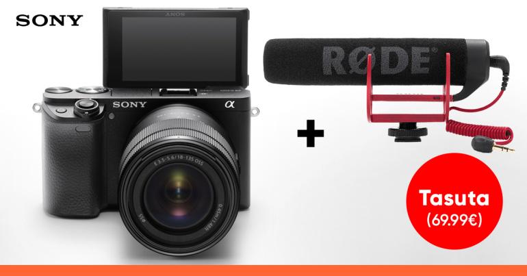 Sony a6400 või a6500 hübriidkaamera ostul saad tipptasemel kingituse