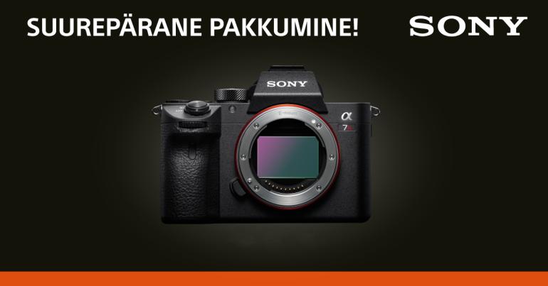 Need Sony fototehnika erihinnad kehtivad ainult 6. juuli - 19. juuli 2020