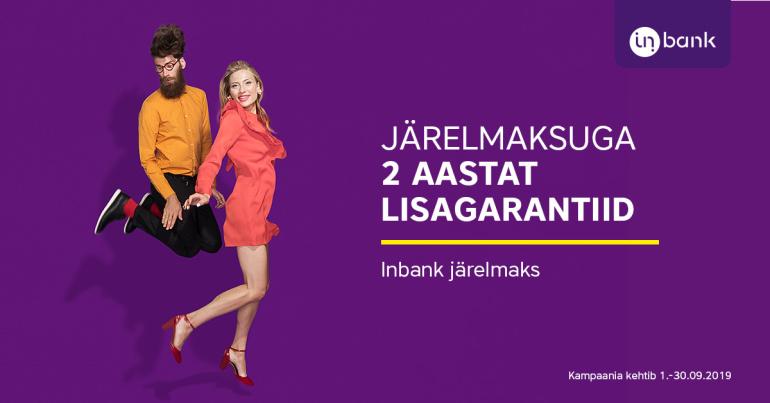 Inbank järelmaksuga tehnikat ostes saad 2 aastat lisagarantiid
