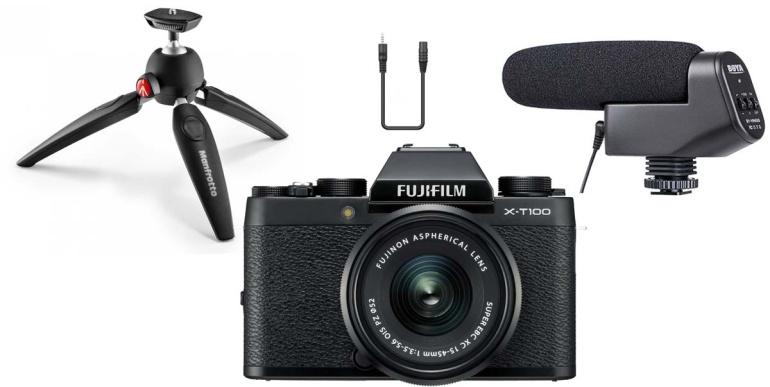 Ideaalne alustava vloggeri stardipakett: Fujifilm X-T100 Youtuber Kit