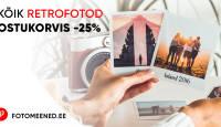 Proovi järele - retrostiilis paberfotode tellimine on 25% soodsam