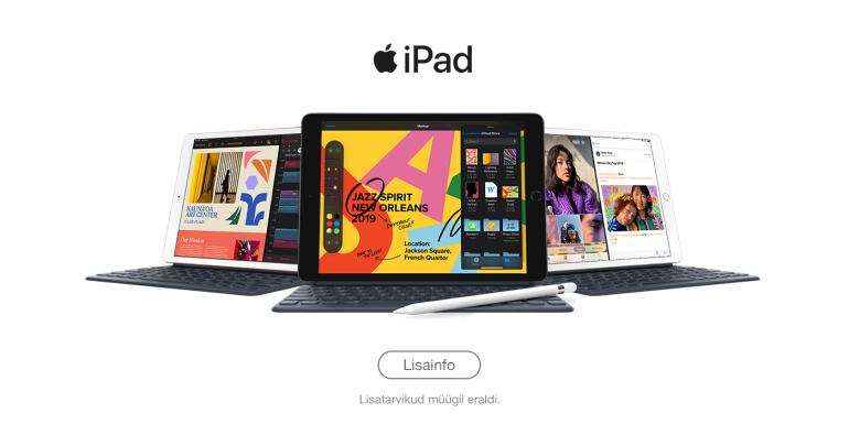 Nüüd saadaval: Apple uus 7. generatsiooni 10,2-tollise ekraaniga iPad