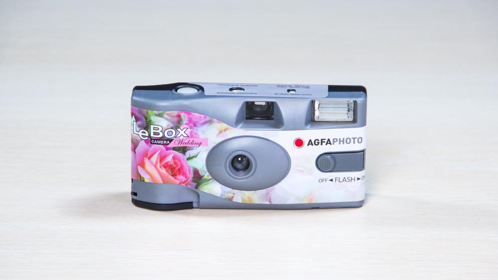 Agfa LeBox Flash Wedding ühekordne kaamera