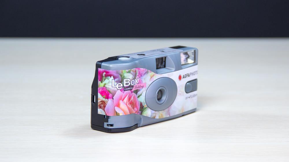 Agfa ühekordne kaamera LeBox Flash Wedding