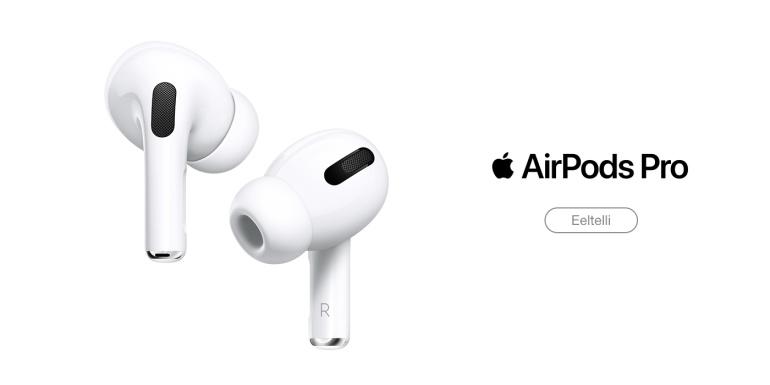 Apple AirPods Pro kõrvaklapid tulevad aktiivse mürasummutusega