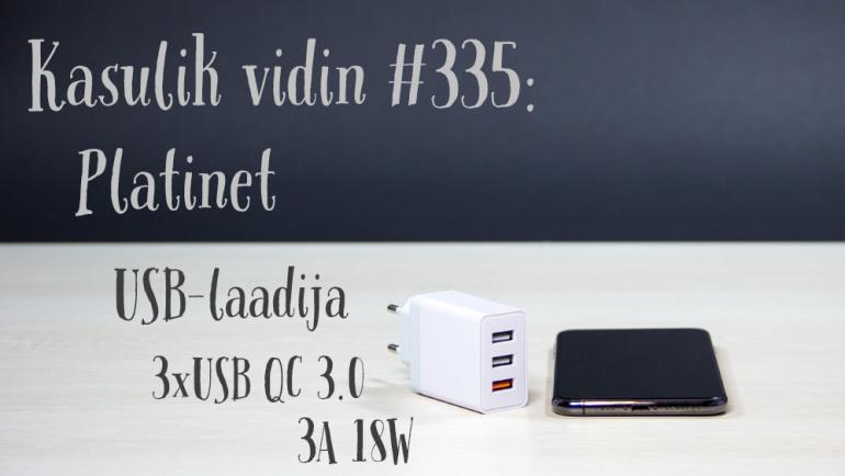 Kasulik vidin #335: Platinet USB-laadija 3xUSB QC 3.0 3A 18W