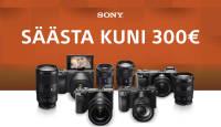 Osta valitud Sony hübriidkaamera ja sinna juurde valitud Sony objektiivid – säästad kuni 300€