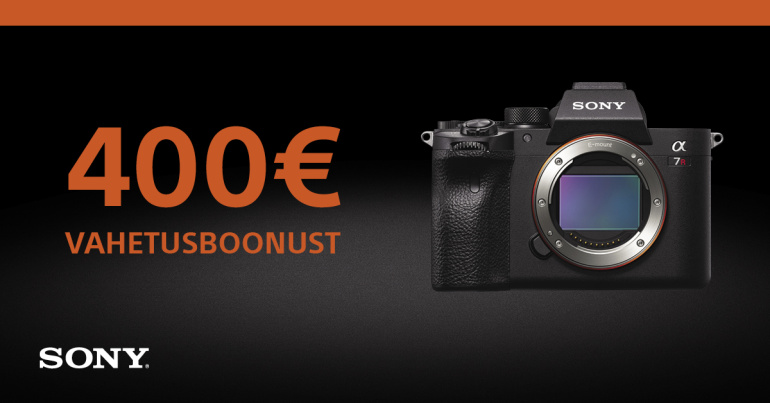 Too vana täiskaader- või keskformaatkaamera meile ja uus Sony a7R IV on sulle -400€ + kingitus!