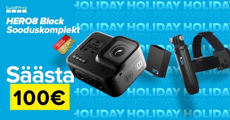 Eksklusiivne GoPro HERO8 Black erikomplekt on saadaval soodushinnaga