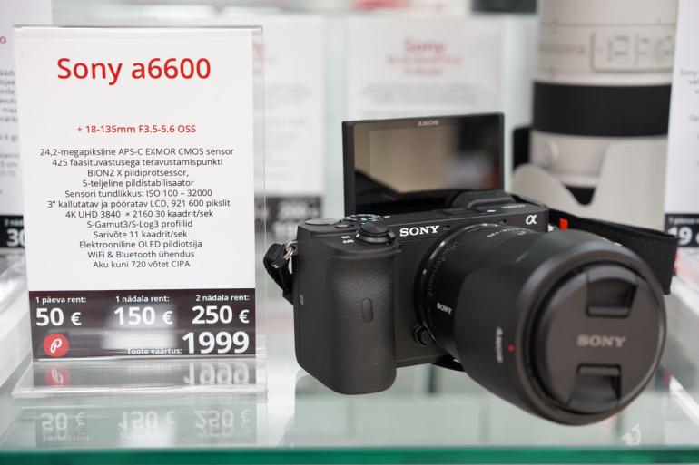 Nüüd on rentimiseks saadaval Sony a6600 hübriidkaamera