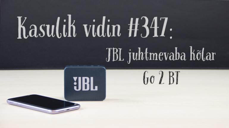 Kasulik vidin #347: JBL juhtmevaba kõlar Go 2 BT