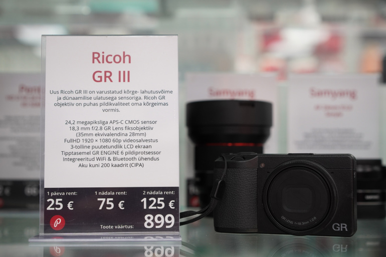 Nüüd on Tallinnas rentimiseks saadaval profiklassi taskukaamera Ricoh GR III