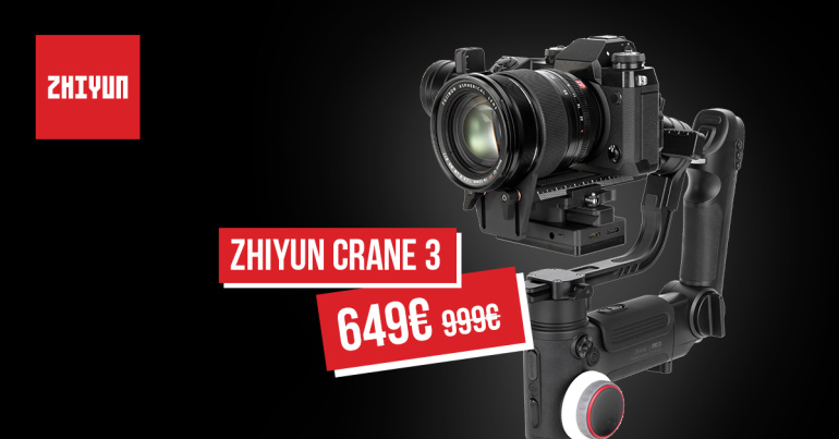 Zhiyun stabilisaatorite lipulaev Crane 3 LAB on müügil 350€ odavamalt