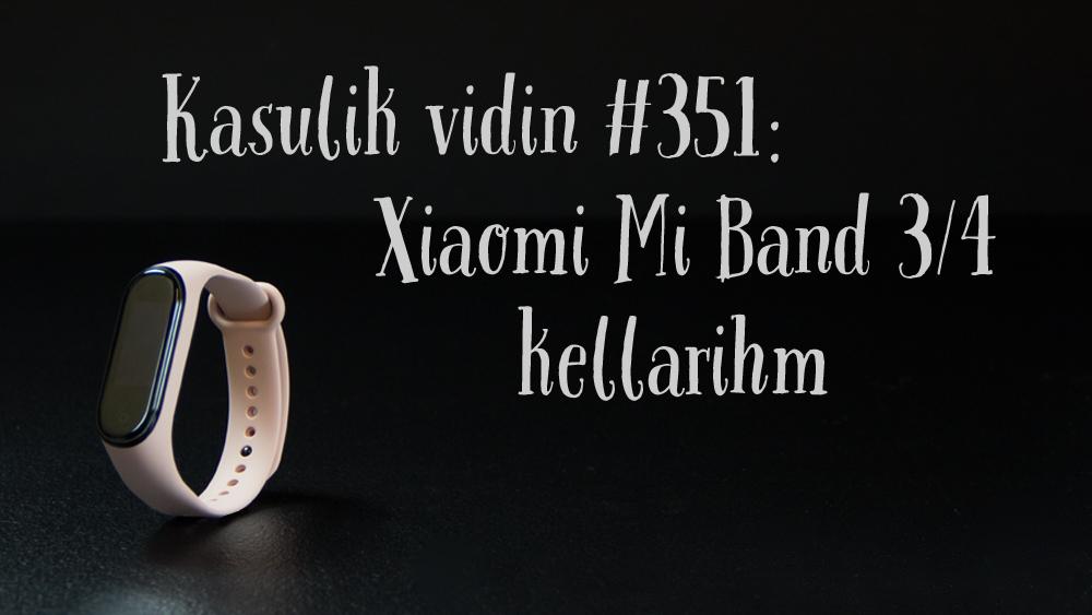 Xiaomi Mi Band 3/4 kellarihm