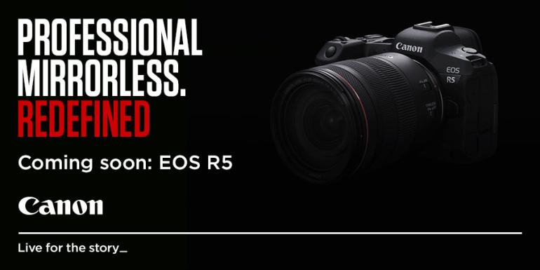 Canon EOS R5 on arendusjärgus. Tuleb 8K video, stabilisaatori ja 20 fps sarivõttega