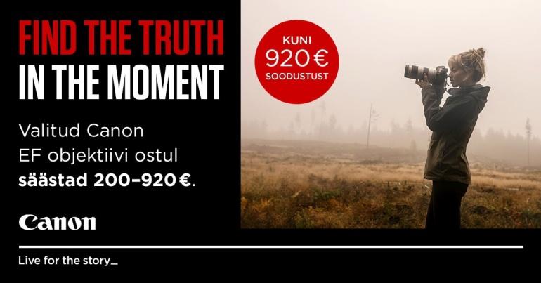 Valitud Canon EF objektiivi ostul säästad 200-920€