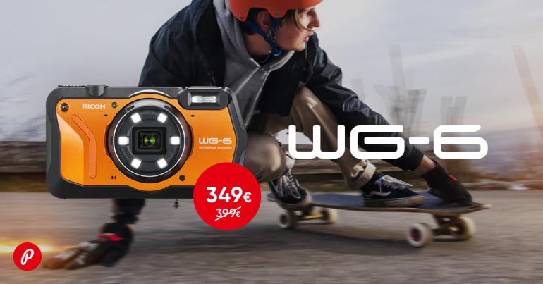 Purunematu Ricoh WG-6 kaamera on müügil 50€ soodsamalt