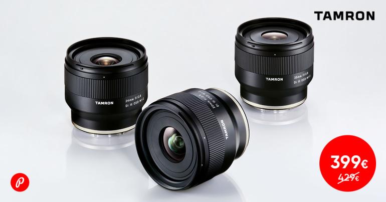 Tamron fiksobjektiivid Sony hübriidkaameratele on saadaval soodushinnaga