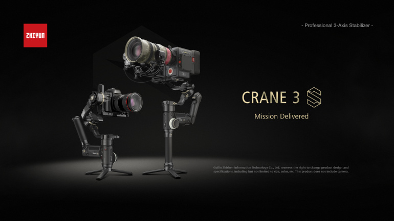 Zhiyun videostabilisaatorite perekond saab täiendust CRANE 3S näol