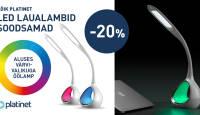 Saagu valgus: kõik Platinet LED laualambid on -20% (ka soodushinnast)