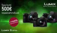 Valitud Panasonic Lumix täiskaader hübriidkaamera ostul saad kuni -500€