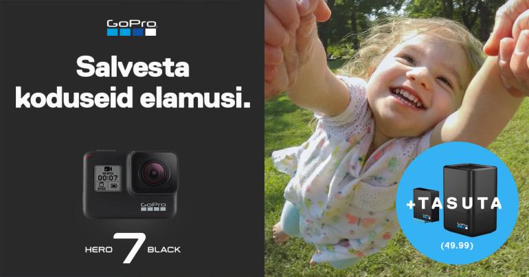 Soodushinnaga GoPro HERO7 Black kaamera ostul saad 49,99€ kingituse