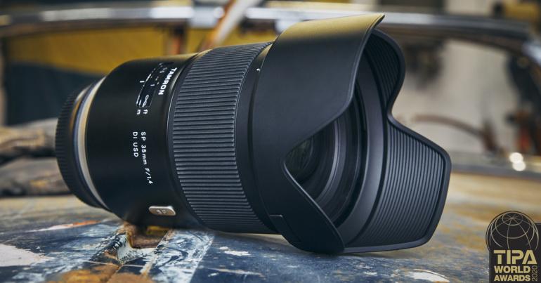 Tamron SP 35mm f/1.4 Di USD objektiiv noppis TIPA 2020 auhinna