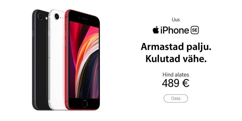 Jehhuu - uus 2020. aasta Apple iPhone SE on nüüd saadaval