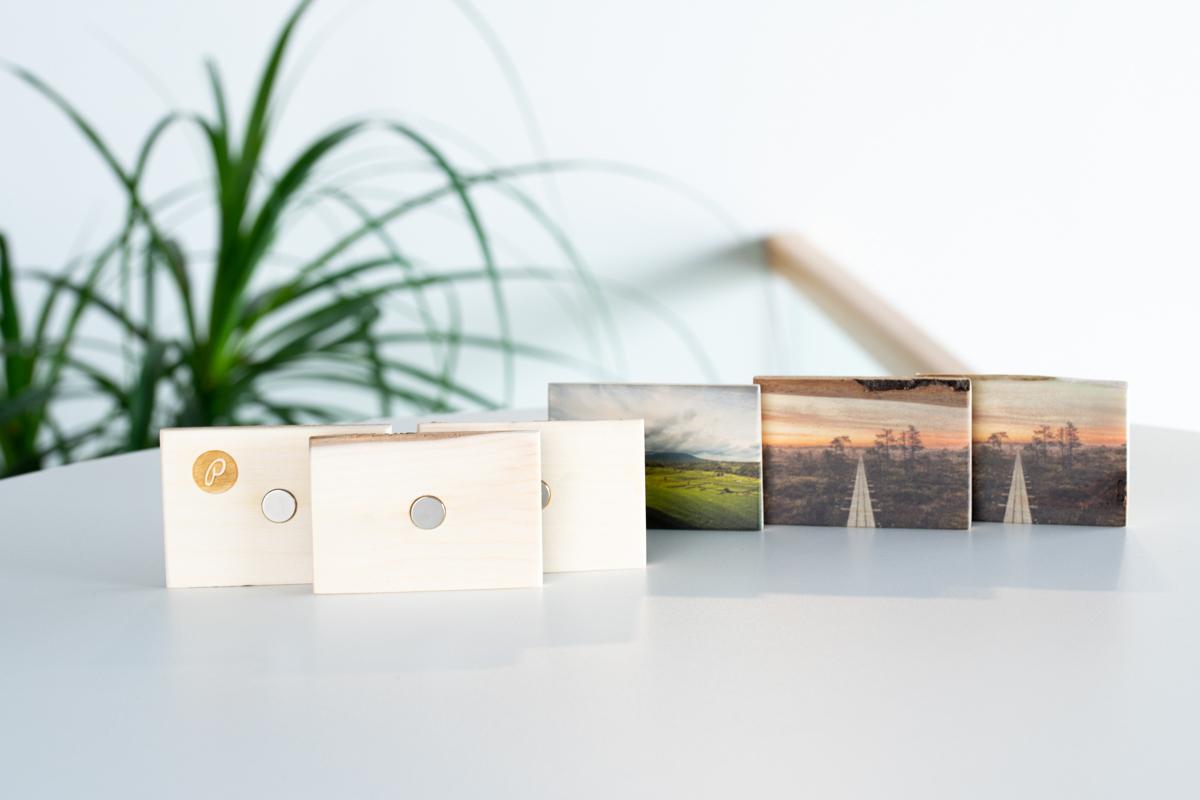 Fotomeened puidust magnet