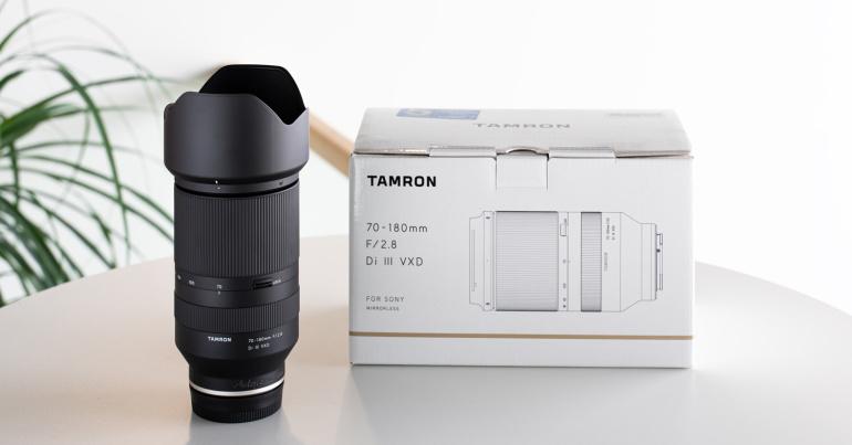 Nüüd rentimiseks: Tamron 70-180mm f/2.8 Di III VXD objektiiv Sonyle