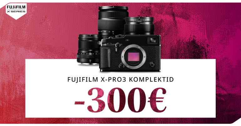 Unikaalse Fujifilm X-Pro3 hübriidkaamera komplektid on 300€ soodsamad