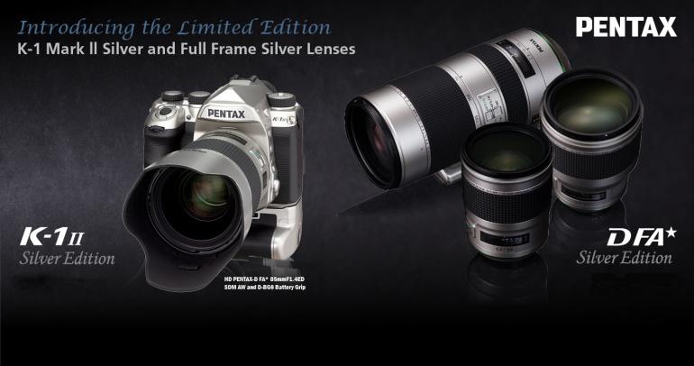Ricoh avalikustas Silver Edition Pentax HD objektiivid ja K-1 II peegelkaamera