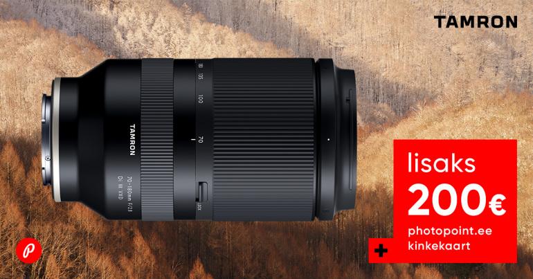 Tamron 70-180mm f/2.8 VXD telesuumi ostul  kingituseks 200€ kinkekaart