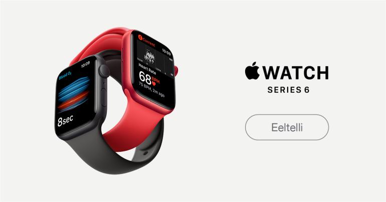 Uus Apple Watch 6 nutikell mõõdab verehapnikku ja uus Apple Watch SE rõõmustab hinnaga