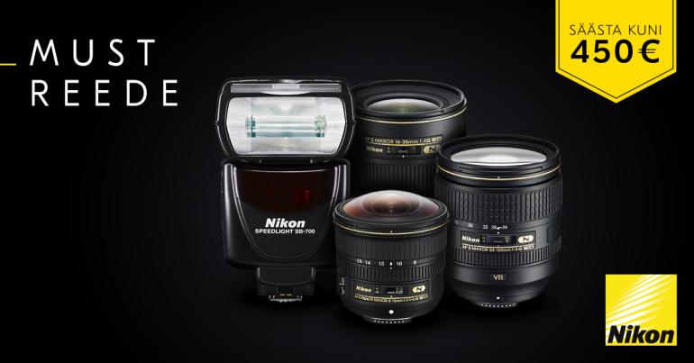 #blackfriday: valitud Nikon AF-objektiivid ja välklambid on soodushinnaga