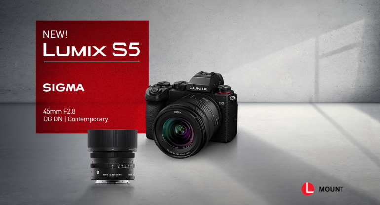 Uue Panasonic Lumix S5 eeltellimisel saad kingituseks Sigma objektiivi