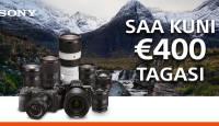 KUNI 31. JAANUAR: valitud Sony fototehnika ostul saad Sonylt kuni 400€ tagasi