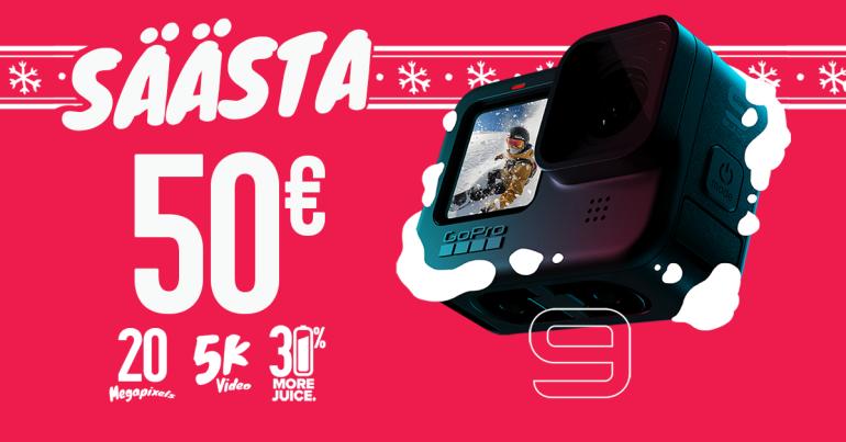 GoPro HERO9 Black on veel kuni 17. jaanuarini 50€ soodsam