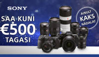 VIIMANE VÕIMALUS: osta Sony a7 III, a7R III või a7R IV ja saad 300-500€ tagasi