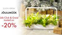 JÕULUMÜÜK: Click and Grow nutiaiad ja taimekapslid on 20% soodsamad